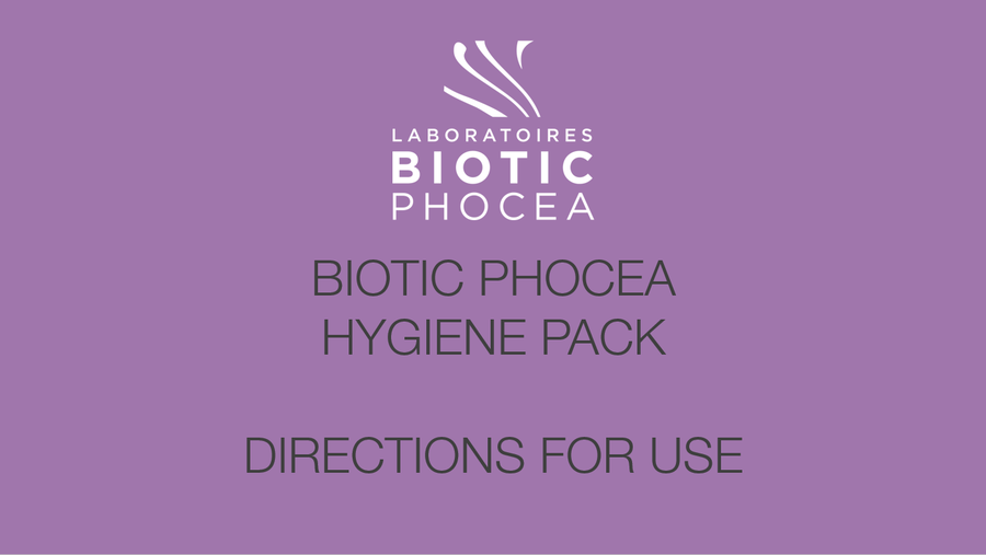 Hygiene Pack - drections for use - BIOTIC Phocea